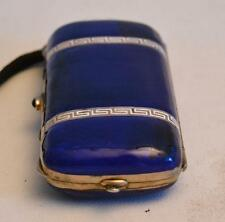 Vintage 1910 Silver and Enamel Compact