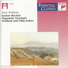 JOHN WILLIAMS Guitar Recital Paganini Scarlatti / Giuliani / Villa-Lobos  CD New