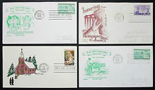 US postage set of 4 covers Letters envelopes Illustrated FDC USA lettere (h-8320