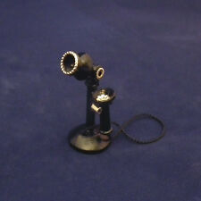 1/12 Dolls House miniature Standing Telephone Old candlestick metal Phone LGW