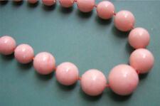 """PASTEL BEADS - PINK""  28"" Necklace - Sarah Coventry Jewelry - Sara Cov - Vtg"