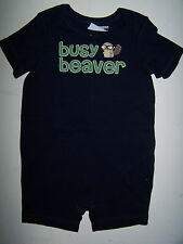 NWT GYMBOREE Smart Little Guy BUSY BEAVER with TAIL SHORTALL ROMPER 3-6 Months