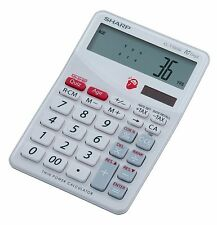 Sharp EL-T100W Desk Solar Calculator and 'Brain Trainer' Game