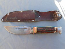 OLD & VINTAGE FRED MAC OVERLAND SOLINGEN GERMANY 703 STAG HUNTING SKINNING KNIFE