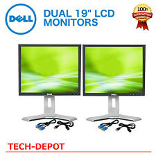 "Dell Dual UltraSharp 19"" Silver/ Black  LCD Monitors W/ USB Hub - Matching 19in"