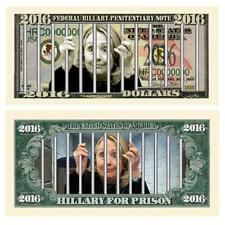 300 Hillary For Prison Money Fake Dollar Bills Presidential Political Novelty
