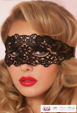 Womens 50 Shades Sexy Ann Summers Inspired Black Ribbon Lace Hollow Eye Mask