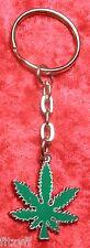 Cannabis Metal Keyring Marijuana Key Ring Pot Weed Dope Gift Souvenir