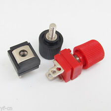5pairs Square Speaker Binding Post with 4 holes for Connecting Wire Red + Black