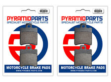 Aprilia LC 50 Rally 1997 Front & Rear Brake Pads Full Set (2 Pairs)