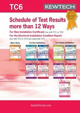 Kewtech TC6 Schedule of Test Results for up to 36Ways BS7671 Amd 3 Certificate