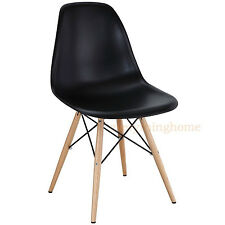 EIFFEL SHELL CHAIR WOOD DOWEL OR WIRE LEG BASE SIDE DINING MOLDED EAMES 7 COLORS