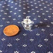 Tiny Clear Glass Sugar Bowl or Candy Jar- 1:12 scale Dollhouse Miniature
