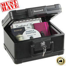 Fire Safe Lock Box Waterproof Fireproof Security Case Chest Storage Portable Key