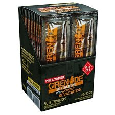 Grenade 50 Calibre Pre Workout Sachets Food Supplement Killa Cola - Pack ... NEW