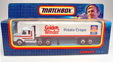"Matchbox Convoy CY16A Scania Box Truck ""Golden Wonder"" top in Box"