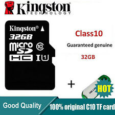 Kingston MicroSDHC Card 32GB TF Flash Memory Card With Adapter Class10 U1C10
