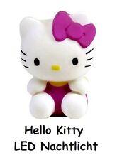 Hello Kitty LED Nachtlicht, 7 Farben, Nacht Leuchte, Deko, Notlicht, neu, pink