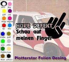 Hupe defekt Mittelfinger Hater Bitch JDM Sticker Aufkleber oem Power Shocker