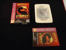 Mortal Kombat 1 (Sega Game Gear 1992) COMPLETE w Box manual game WORKS! Combat I