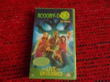 Scooby-Doo The Movie. He's LIVE and UN-LEASHED VHS tape - English language