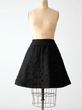 Tuleh black silk skirt size 6 cut out floral