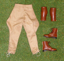 DRAGON DREAMS 1/6 SCALE LOOSE WW II BRITISH COLMAN TROUSERS - BOOTS - GAITERS