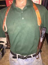 Glock 19 23 Shoulder Holster & Dual Magazine Pouch Leather