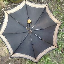 1940s VINTAGE Umbrella Wood & Steel PARAGON S FOX & Co Ltd England Amber Handle