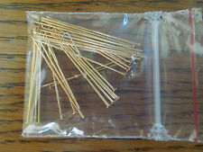 Gold Plated 21 Gauge Flat  Headpin findings 72 pcs 1 1/2 inch