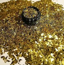 3ml Flakes Glitter in Acryl Dose, Gold, 807-009-a