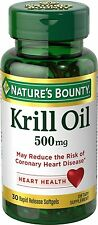 Red Krill Oil 500mg Omega-3 - 30 Softgels Heart Health