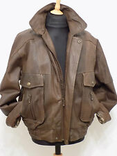 Aviator Leather Bomber Fighter Pilot Flying Jacket Luftwaffe Style Biker