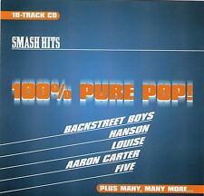 SMASH HITS 18 TRACK CD 100% PURE POP BACKSTREET BOYS HANSON LOUISE FIVE