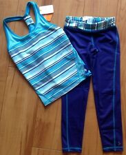 NWT Girls Size 7/8 Gymboree Gymgo Outfit Athletic Running Tennis Tank & Leggings
