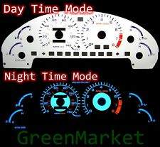 93-97 Ford Probe GT WHITE FACE BLUE INDIGLO GLOW GAUGES