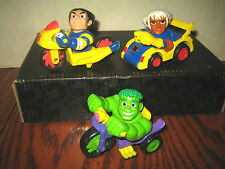 "3 RARE HTF COLLECTABLE DIE-CAST VEHICLES ,  X-MEN , HULK , LOT "" SOLD AS IS """