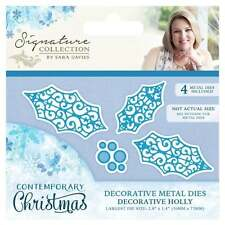 DECORATIVE HOLLY Crafter's Companion Sara Signature Contemporary Christmas Die