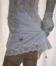 Silky light cream nylon lace petticoat mini half slip underskirt lingerie BNIP