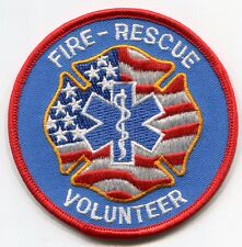 Fire Rescue Volunteer Patch /// EMT /// First Responder /// EMS /// Medic