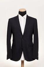 New BOGLIOLI MILANO Fine Wool Jacket Dark Blue Solid Tex 42US 52EU 6R Slim Fit
