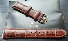 New 20mm Genuine Leather Brown Watch Strap For Rolex With S/S Buckle (WS-S23)
