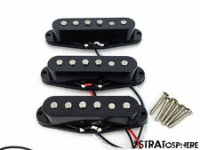 * NEW Alnico 5 for Fender Stratocaster PICKUP SET Strat Pickups Black Covers