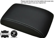 WHITE STITCHING FITS VW SCIROCCO 2008+ LEATHER ARMREST COVER LEATHER