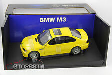 AUTOart 1:18 scale BMW E46 M3 Coupe 2001 (Yellow) *Retired - MEGA RARE*