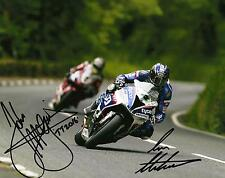 Ian Hutchinson & John McGuinness 2016 Isle of Man TT signed 16 x 12 photo & cert