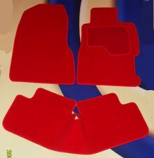 HONDA CIVIC & TYPE R 2000 - 2006 3 DOOR BRIGHT RED CAR FLOOR MATS + 2 x RINGS