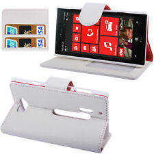 FOR NOKIA LUMIA 928 with Credit Cards Compartment DELUXE leather look POUCH