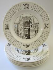 """WEDGWOOD """"Thayer Plates West Point Academy"""" 10.4"""" Set of 6"""
