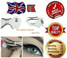 EYELINER Stencil - Eyeshadow Guide - Smokey Cat - Quick Eye Makeup Tool Set